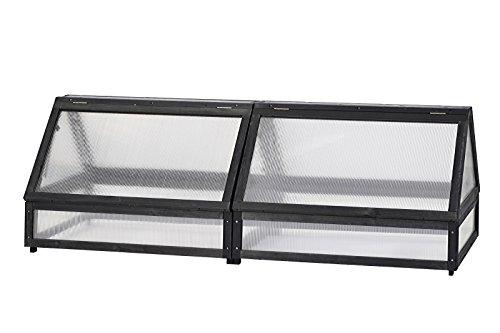 VEGTRUG Frühbeetaufsatz für Medium Hochbeet, Charcoal, FSC-Holz, ca. 183x80x66 cm