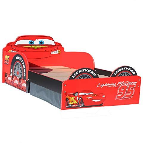 Unbekannt Disney Cars Toddler Bed Storage Kinderbett Bett Lightning McQueen Aufbewahrungsschubladen Auto