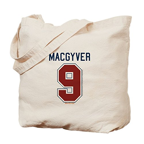 CafePress Macgyver: 9 Hockey Jersey Bolsa, lona, caqui, Medium