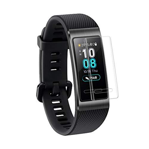 Für Huawei Band 3/3 Pro Schutzfolie, Colorful weiches TPU Flexible Folie [Blasenfrei] HD Klar Bildschirmschutzfolie für Huawei Band 3/3 Pro Smartwatch (2 Stück)