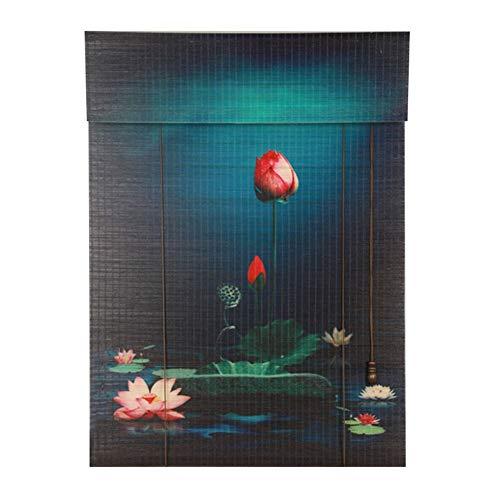 Pengfei tenda a rullo bamboo tapparella cortina di bambù sala da tè ristorante partizione pittura a muro, protezione solare, 3 colori, personalizzazione delle taglie