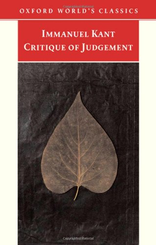 Critique of Judgement (Oxford World's Classics)