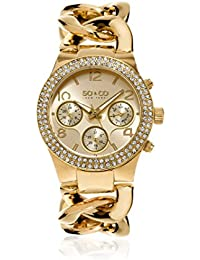 SO & CO New York Quartz Watch Display and Stainless Steel Strap GP15513_Gold