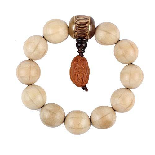 GGCL Wutai-Gebirgsnatürliches Buddhistisches Gebet, Zen-Buddhismus, Reiki-Energie-Rosenbeet-Armband,Beige,2.0Cm