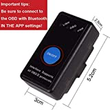 ACITMEX OBD2 Bluetooth Scanner, Bluetooth 4.0 Auto OBDII Car Code Reader Diagnostic Scan Tool Upgrade 1.5 OBD II Engine Scanner Fault Code Reader Support IOS,Android,Windows,Hot Plug In Design