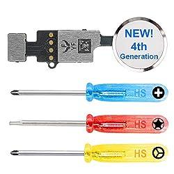 MMOBIEL Universal Home Button kompatibel mit iPhone 7/8 /7 Plus /8 Plus (Weiss/Silber) 4. Gen zur Wiederherstellung der Funktionen