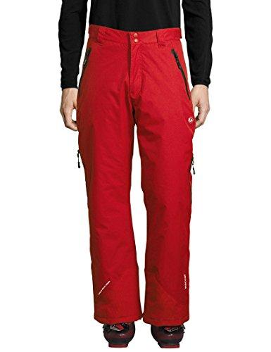 Ultrasport Professional Pantalones funcionales de esquí y snowboard Amud para hombre, con Ultraflow 5000 y sistema de rescate RECCO, Rojo/Negro, L