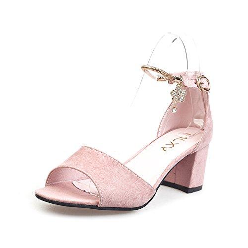LGK&FA Sandali Con Tacco Alto E Scarpe Femmina 36 Grigio 38 Pink
