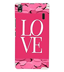 ColourCraft Love Design Back Case Cover for LENOVO A7000 TURBO