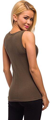 Merry Style Damen Unterhemd 3er Pack PD1X1 Braun
