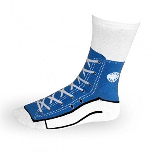 Sneaker Socken in blau - Turnschuhe Strümpfe im Paar