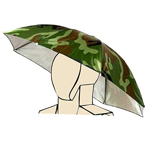 Muster Kostüm Quallen - Elastisches Stirnband-Tarnungs-Muster Sun-Regen-Regenschirm-Hut-Kappe für Fischen-Strand-Golf- Armee-Grün-Handfreies Headwear-Schatten-Gartenarbeit-Fotografie-wandernder Hut, Bunte Neuheit durch So