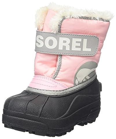 Sorel Childrens Snow Commander, Bottes de Neige Fille, Rose (Cupid/Dove), 25 EU