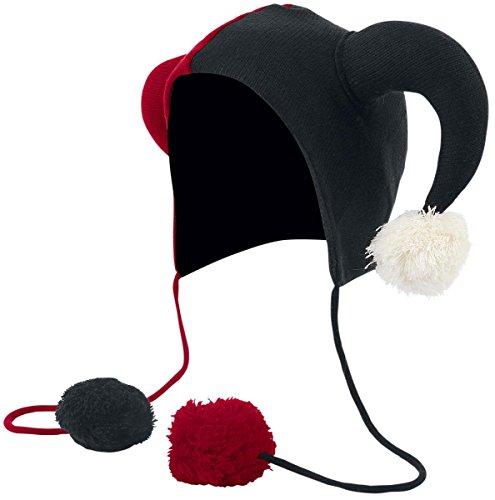 Cupcake Cult Jester Hat Mütze (Schwarz Rot Und Jester Hut)