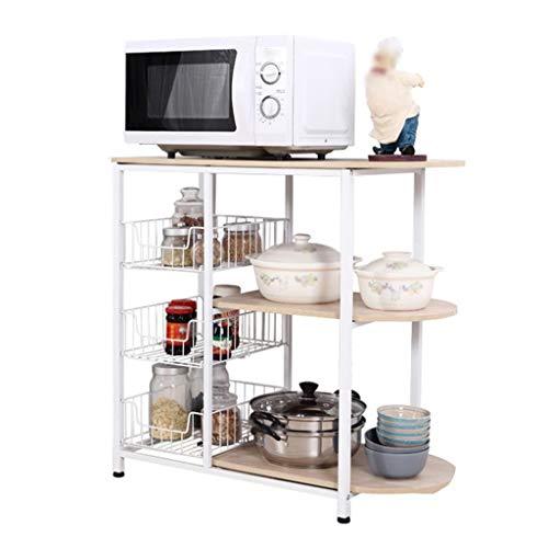 QNJM Küche Storage Unit Rack, Badezimmer Regale 3 Tier Regal Bad Organizer, Moderne Organisation Rack for Pantry Küche Wohnzimmer - Regal Storage Unit