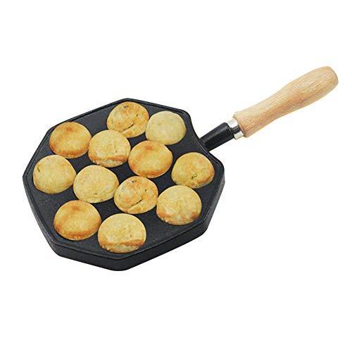 DINNA Takoyaki Pfanne Nonstick Guss Aluminiumlegierung Backblech Takoyaki Maker, Gusseisen Bratpfanne Für Die Herstellung Der Pfannkuchen Balls