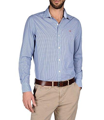 Napapijri Hommes chemise guyamas Vichy forme urbaine Bleu bleu foncé