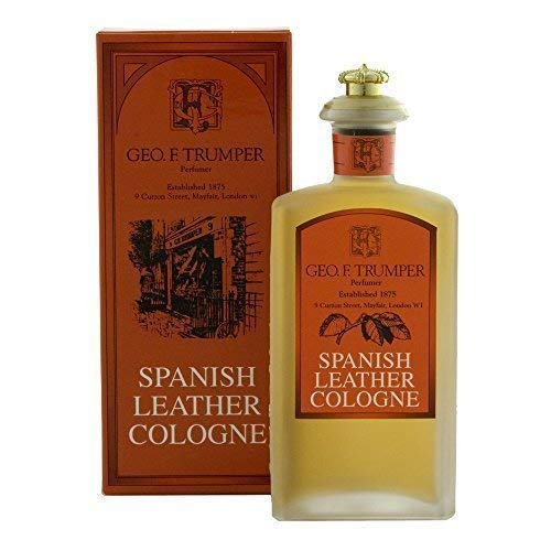 Geo F Trumper Spanish Leather Eau de Cologne Splash Bouteille en verre de 100ml