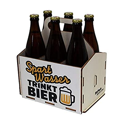 Bierträger aus Holz, Sixpack, Sechserträger, Vatertag, Bier, Geschenke für Männer, Grillzubehör, 50. Geburtstag, 40. Geburtstag, 60. Geburtstag, Grillparty