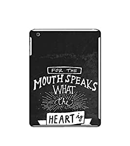 Fuson Designer Back Case Cover for Apple iPad Mini Wifi :: Apple iPad Mini Wifi + Cellular (7.9 Inches) (For the mouth speaks )