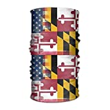 EJjheadband Amercian Maryland Flag Microfiber Headwear Multifunctional Bandana Facemask Seamless Scarf Mufflers By Outdoor