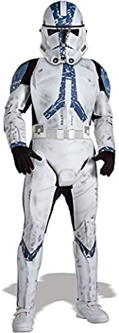 Kinder Kostüm Clone Trooper Deluxe, M (Star Wars Clone Trooper Kostüm Kinder)