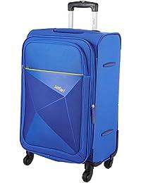 Safari Polyester 65 cms Blue Softsided Check-in Luggage (PRISMA654WBLU)-26 Inch