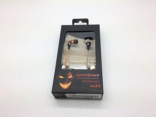 Symphonized NRG 3.0 IN EAR KOPFHÖRER - Premium Ohrhörer mit edlem Holz, Mikrofon und Lautstärkeregler - Geräuschisolierende Ohrstöpsel für Zuhause und unterwegs, perfekt beim Musikhören oder Sport - Orange & Grau (Das Perfekte Zuhause)