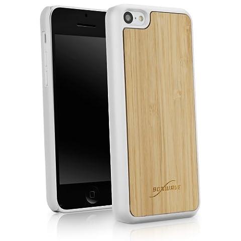 BoxWave Minimus Housse étui pour Apple iPhone 5C coque arrière, véritable bois Bambou en bambou avec bords en plastique durable avec finition mat lisse d'hiver