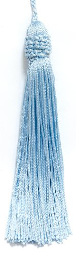 Lot de 10 Bleu arctique Couronne Tête chainette Tassel, 14 cm de long avec bordure 2,5 cm Loop, Basic Collection Style # Ct055 Couleur : bleu arctique – N14