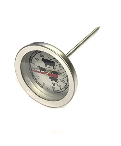 Analoges Edelstahl Bratenthermometer   Fleischthermometer   Grillthermometer