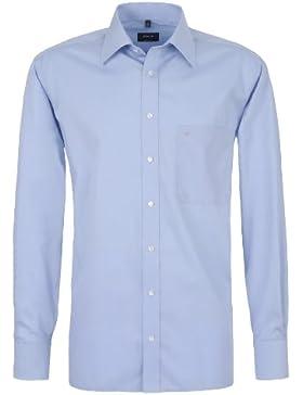 Eterna Herrenhemd Langarm Freizeit Baumwoll Hemd Baumwollhemd Herren Business Comfort Fit Grau