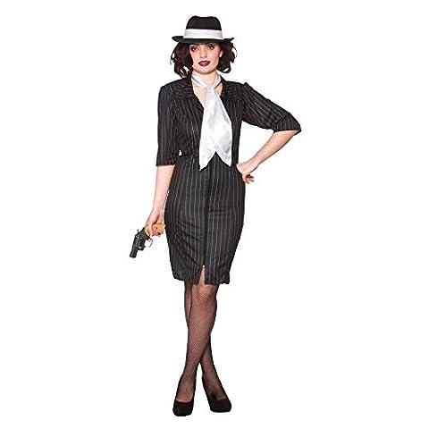 Costumes Ladies Fancy Dress - Gangster Gal Ladies Fancy Dress