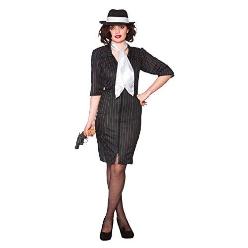 Gangster Kostüm Gal - Gangster Gal Ladies Fancy Dress Costume