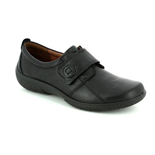 fe45c489c7bed Hotter Originals Sugar - Black Leather Womens Shoes 6 UK