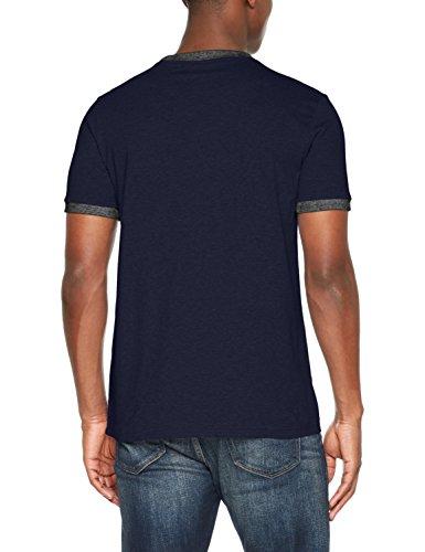 BOSS Casual Herren T-Shirt topical Blau (Dark Blue 404)