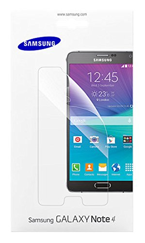Samsung Displayschutzfolie Screen Protector Kristallklar für Samsung Galaxy Note 4, transparent - Galaxy 4 Protector Screen