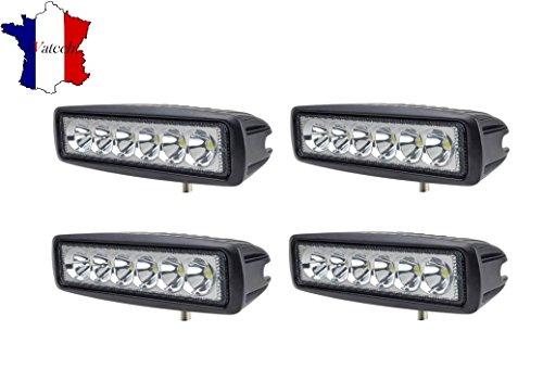 4 X 18W LAMPE DE TRAVAIL 12V 24V PUISSANT LED