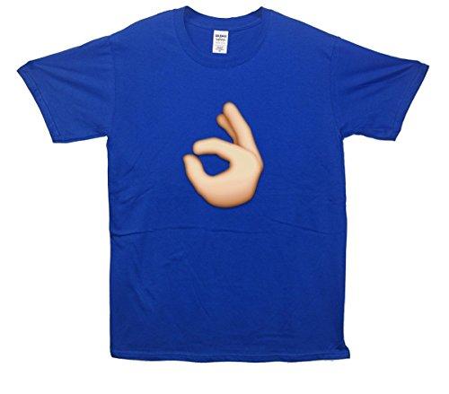 OK Hand Emoji T-Shirt Blau