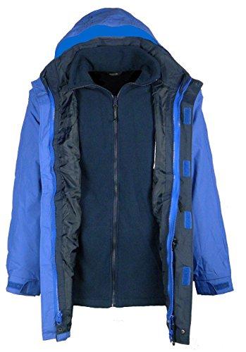 Professional da uomo Regatta 3-in-1 impermeabile a tre quarti giacca Big misure da S a 4XL Royal/Navy