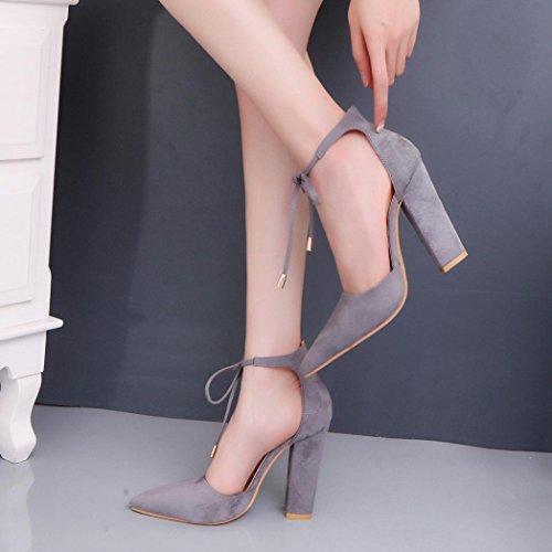 Hunpta Damen Sandalen Sommer Schuhe Damen Damen Pumps Sexy High-Heels Schuhe Grau