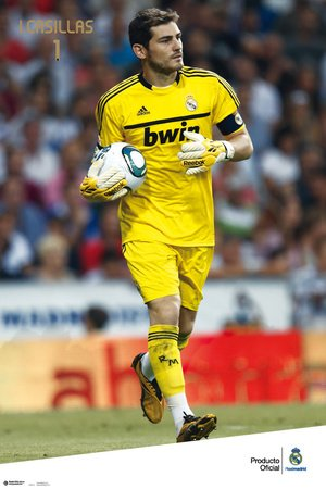 Póster 'Real Madrid – Iker Casillas 2011/2012', Tamaño: 91 x 61 cm