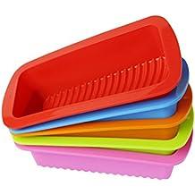 Stampo plumcake silicone BESTOMZ Teglia per torta rettangolare di 27x13cm (Colore casual)
