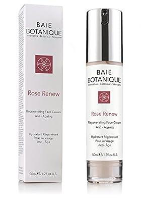 Baie Botanique - Anti-Aging Gesichtscreme - Mit Rosenwasser, Rose Absolue, Hagebuttenkernoel, Glykolsaeure, Vitamin C, MSM, Gruener Tee, Peptide - 50ml.