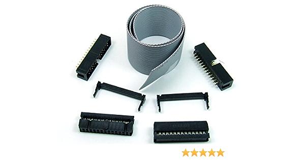 Idc Kit 26 Polig Pin 30 Cm Flachbandkabel Ribbon Elektronik