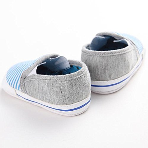 Saingace® Bébé Stripe mignon filles gosse chaussures (12, Bleu) Bleu