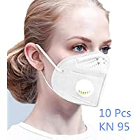 قناع وجه من شركة فونآد، 30 قطعة، معتمد من الاتحاد الأوروبي KN95 n95 يتميز بالتنفس ومضاد للأتربة ومضاد للضباب مع منتجات واقية بفلتر صمام التنفس