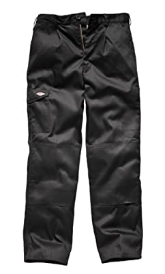 Dickies Super Knee Pad Cargo Work Workwear Trousers Black WD884
