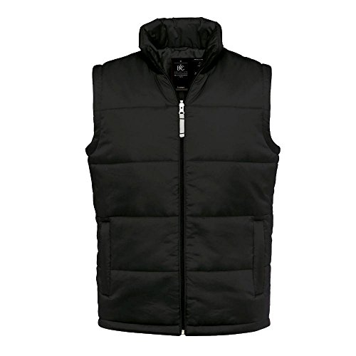 B&C - gefütterte Weste 'Bodywarmer Men' XL, Black