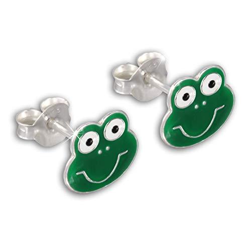Teenie-Weenie Ohrstecker grün Ohrringe Sterlingsilber Frosch Kinder D1SDO8111G -